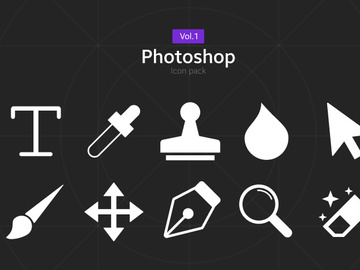 Photoshop Icon Pack [Free SVG,PNG] preview picture