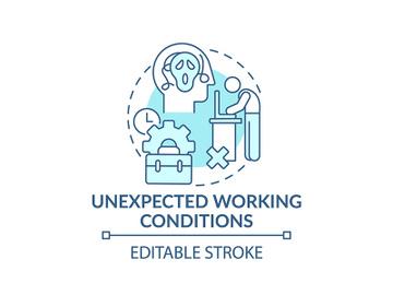 Emotional burden concept icon preview picture