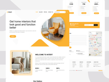 Intert - Interior Designing WebSite Landing Page preview picture