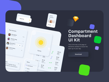 Compartment Dashboard UI Kit preview picture