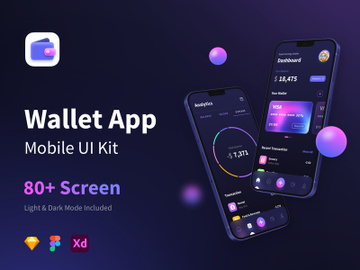 Wallet App - Mobile UI Kits preview picture