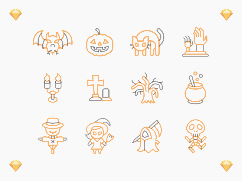 Cute Halloween Icons preview picture