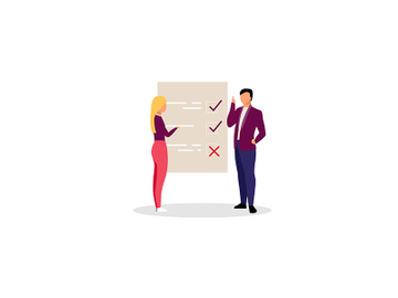 Project manager with checklist flat illustration preview picture