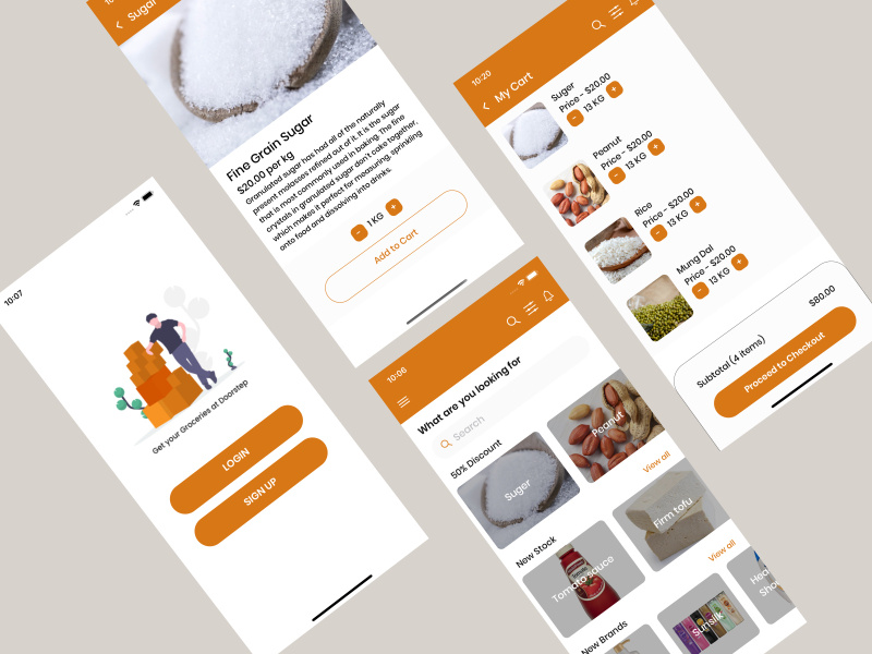 OnlineGroceryStore ReactNative AppTemplate preview picture