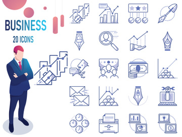 Bleu : Business And Finance IconSet preview picture