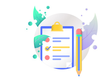 checkboard and pen illustration vector icon preview picture