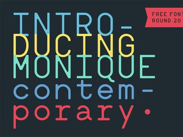 Monique Contemporary Font preview picture