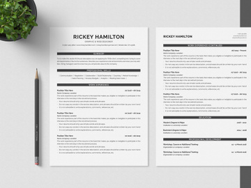 Minimalist CV Resume preview picture