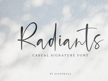 Radiants - Casual Signature Font preview picture