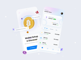 Cryptocurrency Wallet App Concept preview picture