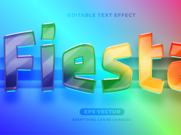 Fiesta editable text effect style vector template preview picture