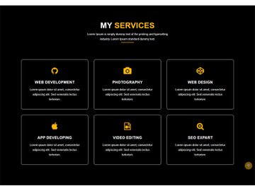 Service Landing Page Template preview picture