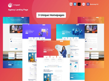 Free SaaS It Expert – One Page Agency Landing Page preview picture