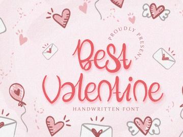 Best Valentine - Handwritten Font preview picture