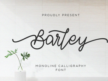 Barley - Monoline Calligraphy preview picture