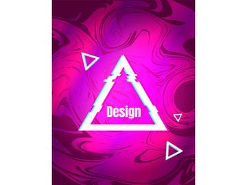 Maroon gradient retro futuristic style vector background preview picture