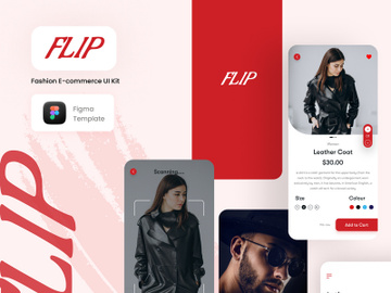 FLIP - Fashion E-commerce UI Kit preview picture