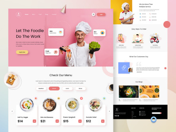 Hire Cook Landing Page Design preview picture