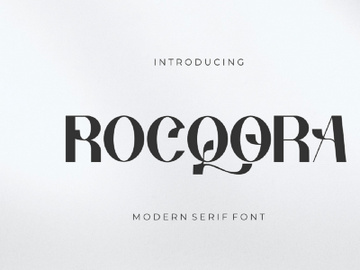 Rocqora Modern Serif Font (Free for Personal Use) preview picture