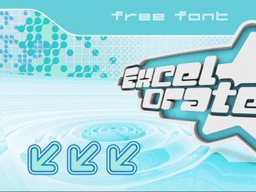 Excelorate - Free Y2K Font preview picture