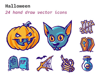 Halloween - Scary icon set preview picture