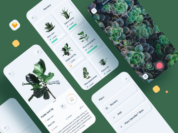 Nursery plant watering App UI Kit preview picture