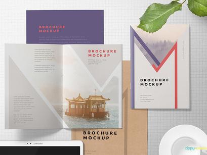 Free A5 Brochure Mockup Psd By Zippypixels Epicpxls
