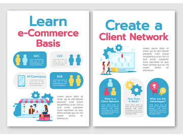 Learn e-commerce basis brochure template preview picture