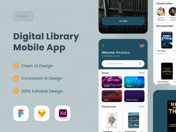 Digital Library Mobile App 📚 preview picture
