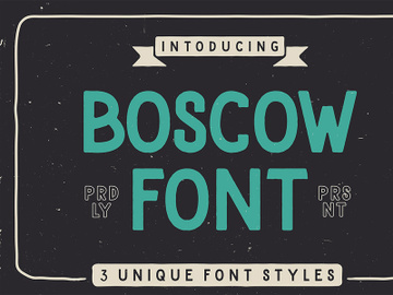 Boscow Free Display Font preview picture