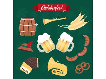 Oktoberfest flat vector illustrations set preview picture