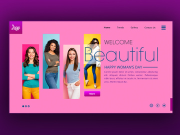 Women's Day sale Landing Page preview picture