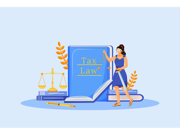 Tax law flat concept vector illustration preview picture