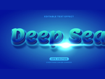 Deep Sea New Normal editable text effect vector template preview picture
