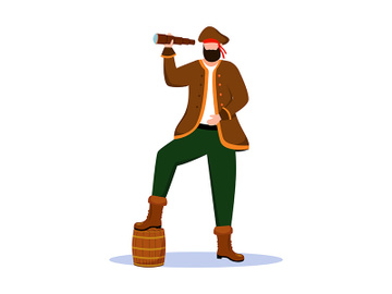 Pirate flat vector illustration preview picture