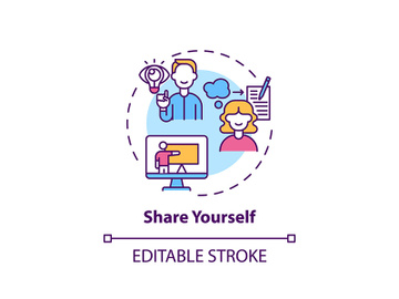 Share yourself concept icon preview picture