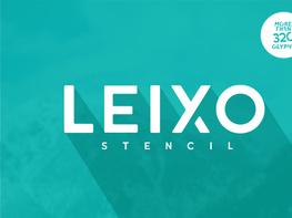 Leixo Stylish Stencil Font preview picture
