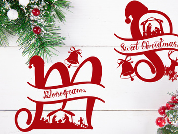 Sweet Christmas Monogram preview picture