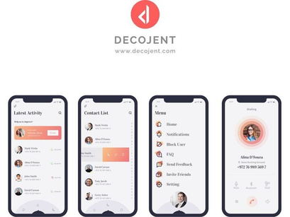 D-Caller - Free Mobile UI Kit  sketch by Decojent ~ EpicPxls