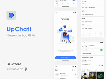 Messenger App UI Kit preview picture