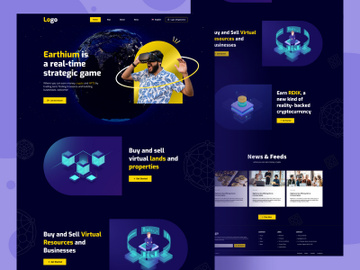 AR VR Game Website Home page preview picture