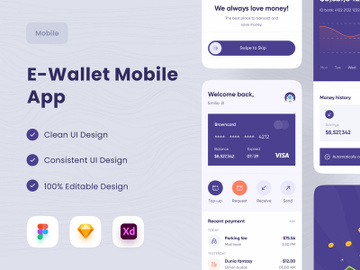 E-Wallet Mobile App 💸 preview picture