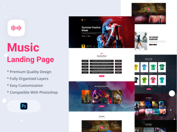 Music Landing Page preview picture