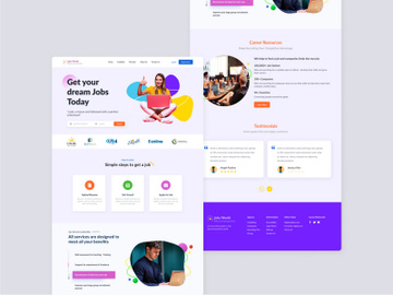 Jobz Worlds web design preview picture