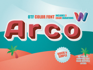 OTF color font - Arco preview picture