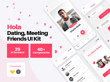 Hola - Dating, Relationship & Social Media App UI Kit preview picture