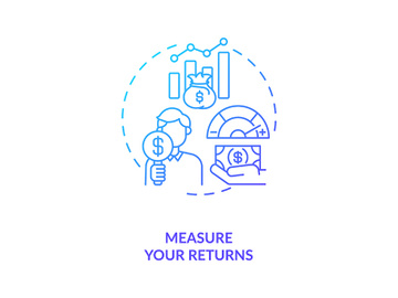 Measuring returns concept icon preview picture