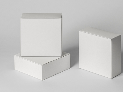Psd Square Boxes Packaging Mockup 3 By Pixeden Epicpxls