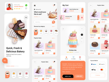 Bakery App Design preview picture
