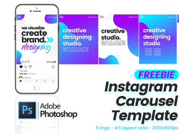 Free Instagram Carousel Template preview picture